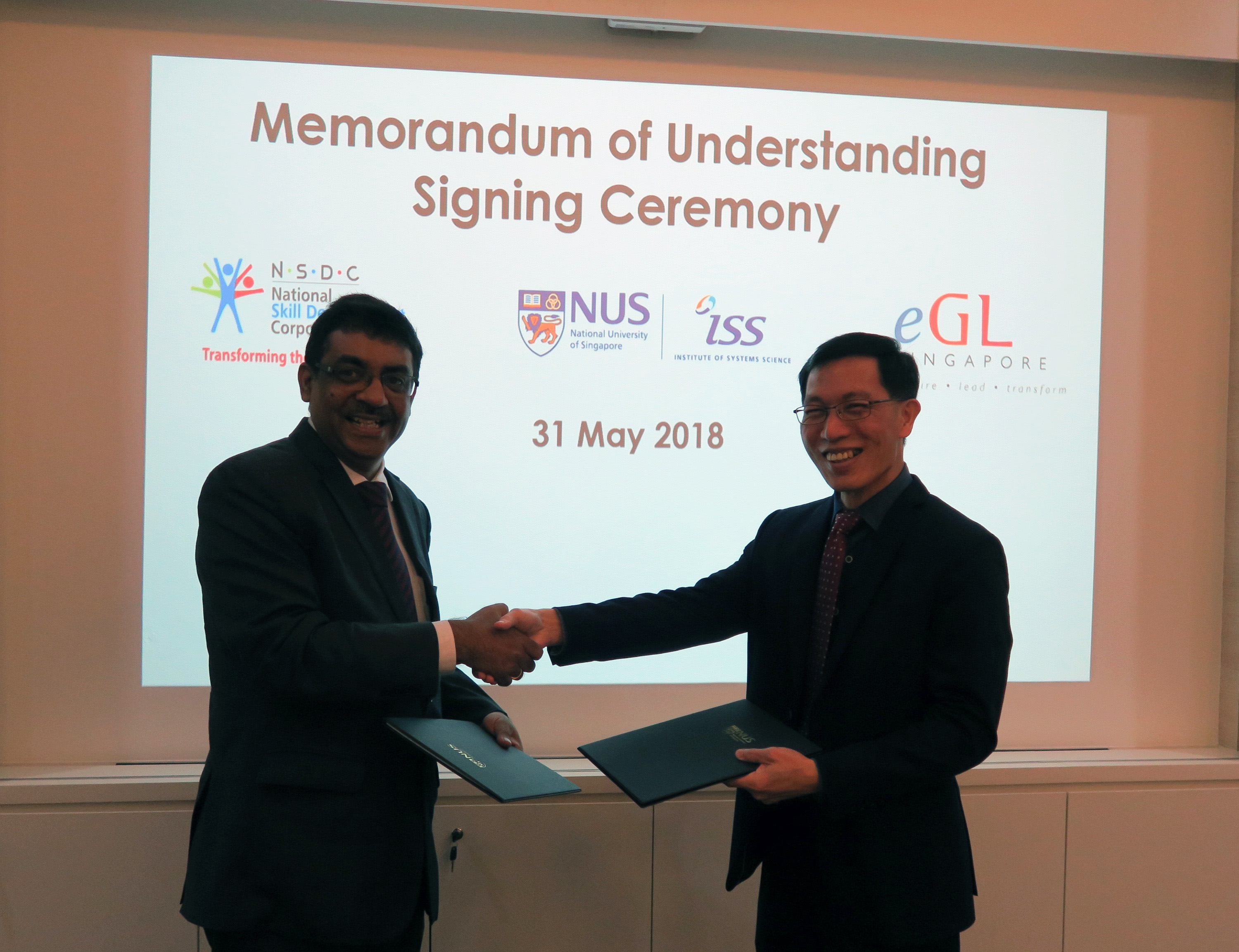 Singapore e-Government Leadership Centre at the NUS Institute of Systems Science to address skills gap in India