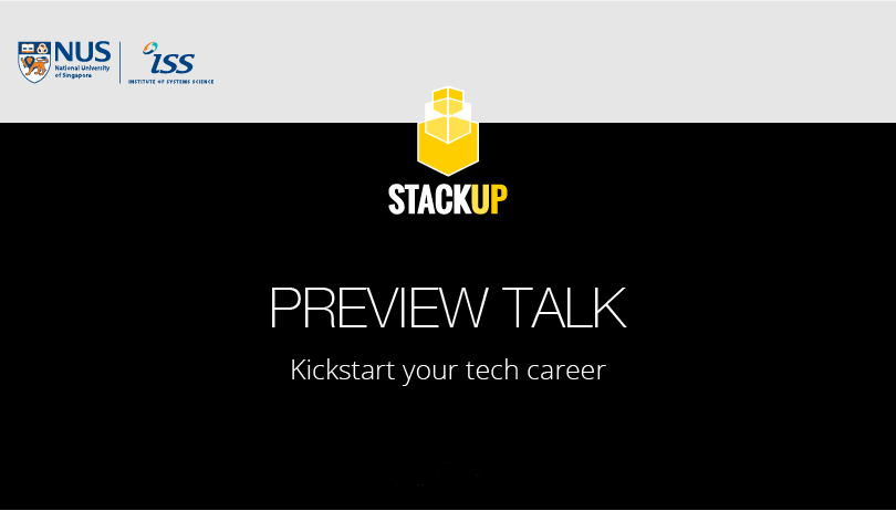 NUS-ISS StackUp Preview Talk