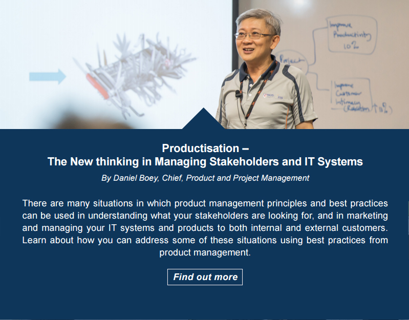 Productisation – The New Thinking in Managing Stakeholders and IT Systems